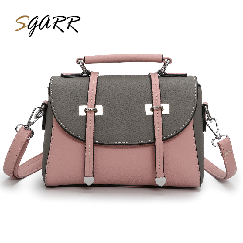 SGARR Famous Brand Women Bag Luxury Handbag Pu Leather Patchwotk Casual Purse Female Messenger Bag Lady Crossbody Bag Sale fashion casual michael handbag luxury louis women messenger bag famous brand designer leather crossbody classic bolsas femininas