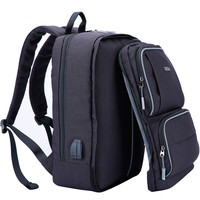 New Front Panel Removable Men S Business Backpack USB Charging 15 6 To 17 3 Inch
