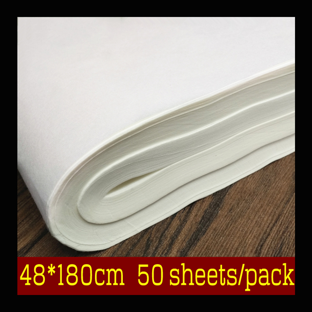 50 Sheets Pack Chinese For Painting Paper Water Color Oil Paint Rice Art