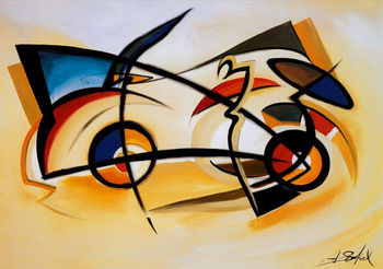 Modern abstract art Perpetual Motion by Alfred Gockel oil painting canvas High quality Hand painted Home Decor Gift
