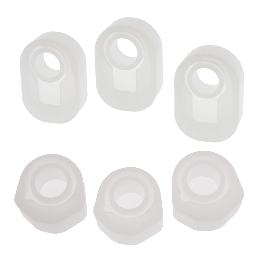 6Pcs Assorted DIY Ring Silicone Mold Jewelry Rings Resin Casting Mould Craft