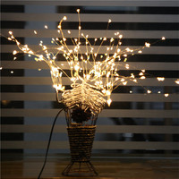 198LED36 Branches Starry Stars Lights Silver Branch Twigs Indoor and outdoor decorations Tree lights Fairy lights Romance