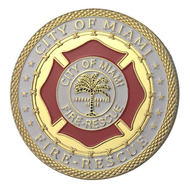 Ganze Verkauf Versorgung Vergoldung Stadt Von Miami Feuer Abteilung