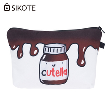 SIKOTE 2017 New Cutella Melt 3D Printing Cosmetic Bag Pouch Travel Conenvient Bolsos Mujer De Marca Famosa Toiletry Organizer