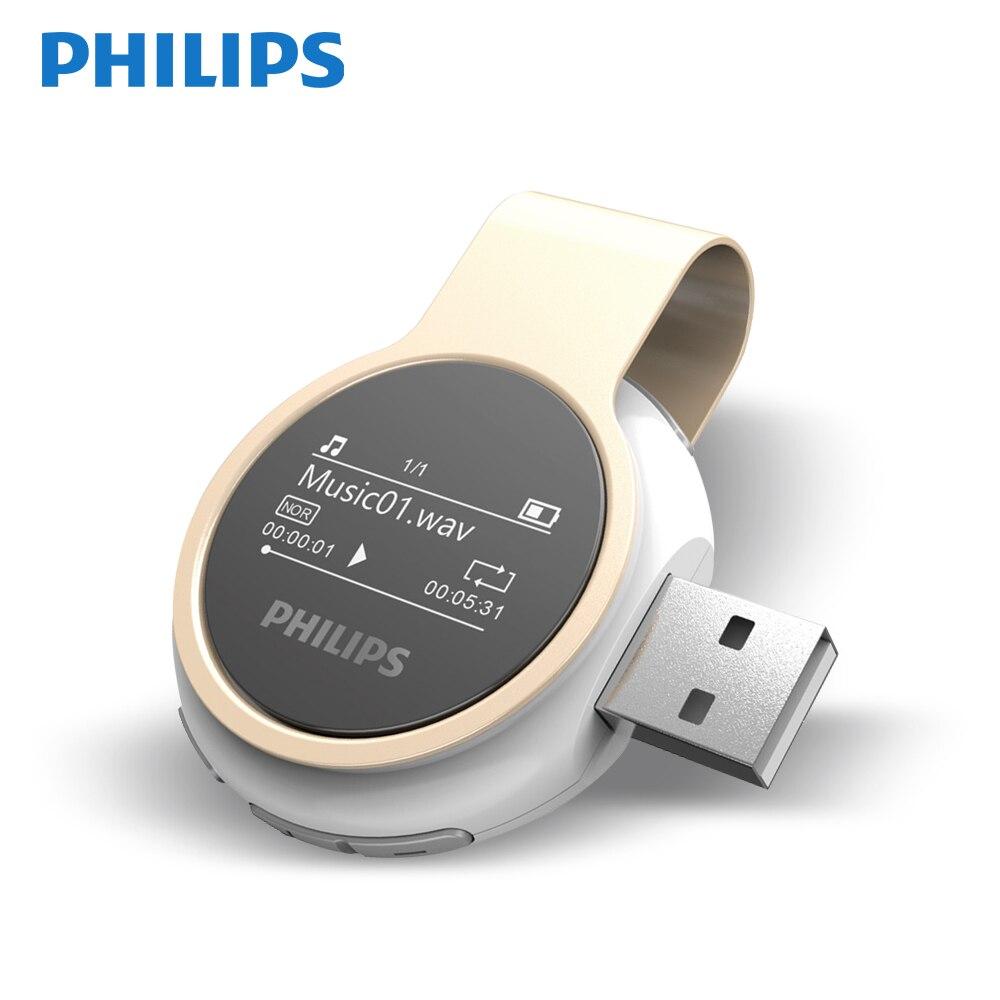 Philips HIFI sans perte Fullsound étudiant Mini A-B répéter pour courir pédomètres sport lecteur MP3 SA5608