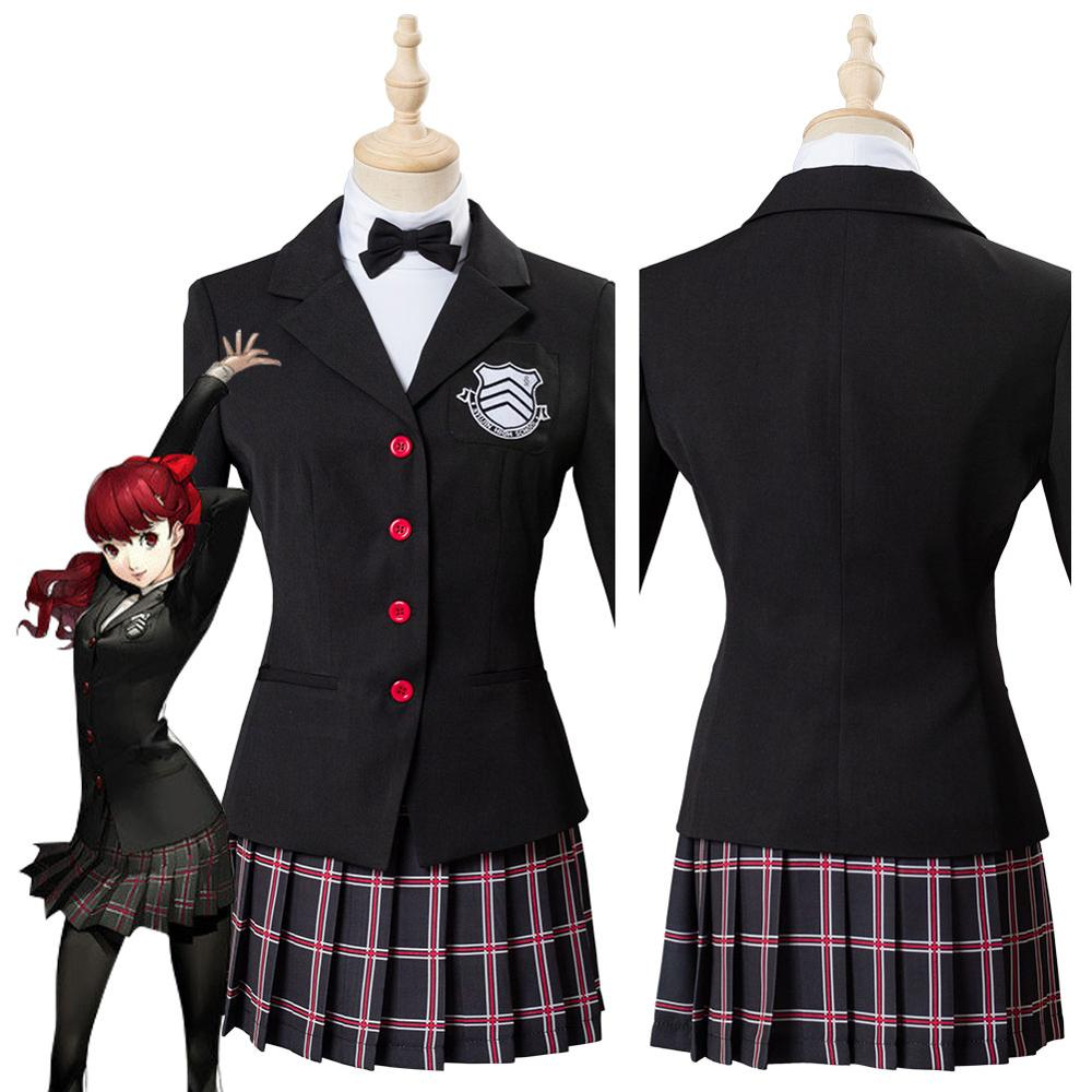Persona 5 Cosplay The Royal Yoshizawa Kasuka Kasumi School Uniform Cosplay Costume Wig Women Girls Halloween Carnival Costumes