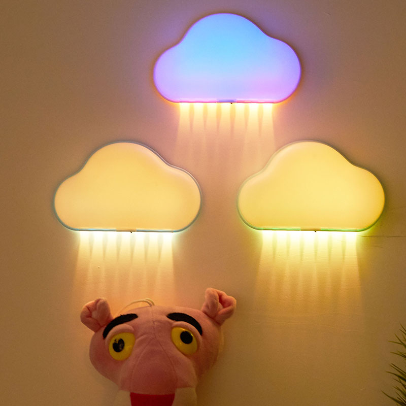[LTOON]LED Night Light, Children's Room, Sleeping With A Night Light, Remote Control, Dimming Clouds, Colorful Lights
