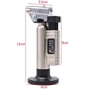 Image 5 - Gás butano dental micro tocha queimador de solda arma mais leve chama soldador à prova vento fonte fogo micro chama arma/isqueiro