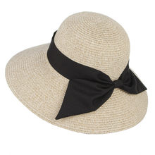393c027c308 Summer Hats For Women Handmade Weaved Large Brim Sun Hat With Big Bowknot  Beach Outdoor Sun Caps Sombreros Panama Hat