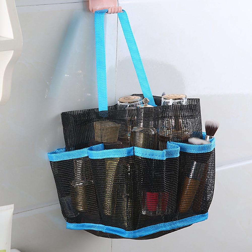 Polyester Mesh Shower Tote Travel Toiletry Bag Portable Washing Bag ...