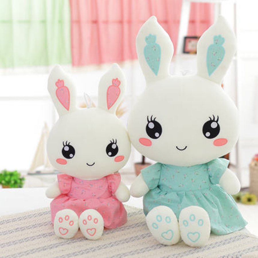Cute Bunny With Small Dress Plush Toy High Quality Lovely Stuffed Rabbits Dolls Kids Toys Peluches De Animales Gifts 70C0118