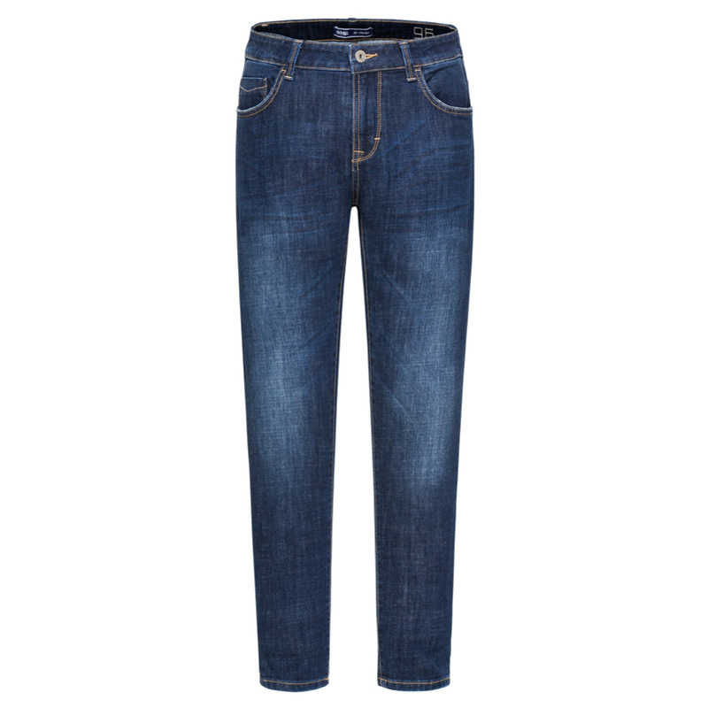 SEMIR جينز قطني ضيق مناسب للرجال مع جيب جانبي جينز رجالي في جينز مغسول مع سحاب يطير مع زر ملابس الشارع للشتاء