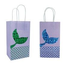 Wedding Decorations 5pcs Mermaid Gifts Box Birthday Party Kids Happy Bags Decor