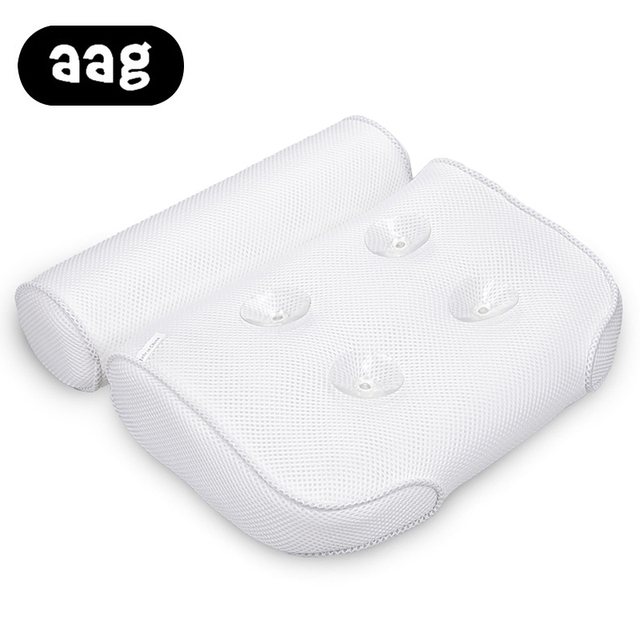 US Buy AAG Spa Bath Pillow Breathable 3D Mesh Back Support Spa Pillow For Home With Suction Cups Non Slip Headrest Bathtub