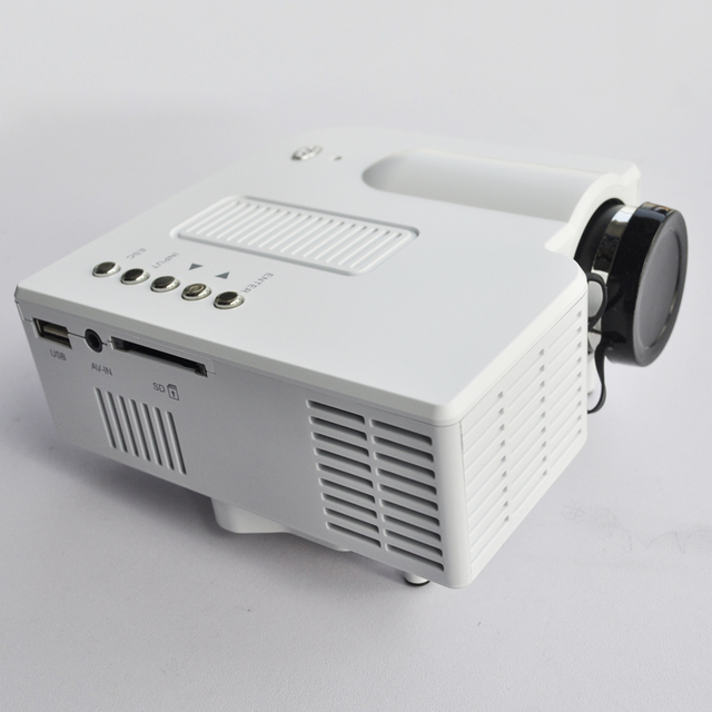 Мини СВЕТОДИОДНЫЙ Портативный Проектор А. В. VGA Sd USB Слот с Дистанционным Управлением