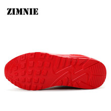 ZIMNIE Air Mesh Women Men Lightweight Outdoor Sport Running Shoes Couples Breathable Soft Athletics Jogging Sport Sneaker Shoe