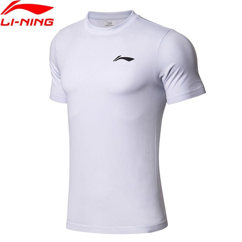 Li Ning Men's Basketball T shirts AT DRY Mono Yarn T shirt 73.5% Polyester 26.5% Nylon LiNing Sports Tees Tops ATSN043 MTS2781