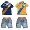 BCS037 free shipping summer children sport style boys clothing boy clothes (t-shirts+short) fashion kids clothes sets
