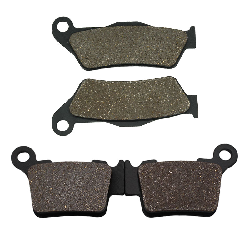 Cyleto Motorcycle Front and Rear Brake Pads for <font><b>KTM</b></font> <font><b>350</b></font> XCF 2011-<font><b>2014</b></font> <font><b>350</b></font> XCFW <font><b>350</b></font> 2012 2013 <font><b>2014</b></font> 400 EXC 400 2004-2007 image