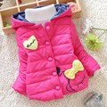 On Sale 2016 Winter New Baby coat Winter Good Looking Heart and Bow Style Girl Snowsuit Parka A338