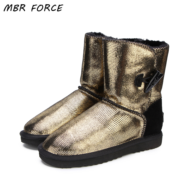 JXANG Fashion Natural Real Fox Fur Womens Winter Snow Boots Warm Long Boots  Genuine Cow Leather ... 165736f6fd57