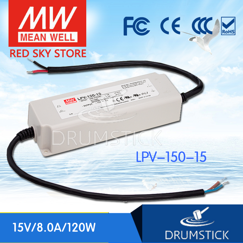 Selling Hot MEAN WELL LPV-150-15 15V 8A meanwell LPV-150 15V 120W Single Output LED Switching Power Supply genuine mean well lpv 100 15 15v 6 7a meanwell lpv 100 15v 100 5w single output led switching power supply