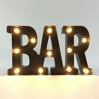 LED Marquee Letter Light BAR Circus Lamp Alphabet Party Decorative Sign