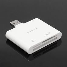 New Design Card Reader 3 In 1 USB2.0 SD Micro SD CF SDHC TF Memory Card Reader High Speed Memory Card Reader Adapter For MAC PC