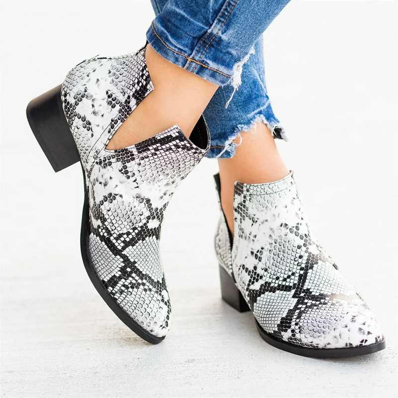 Women's Fashion Shallow Pointed Toe Short Boots 2019 New PU Leather Chelsea Boots Large Size Spring Summer Casual Booties