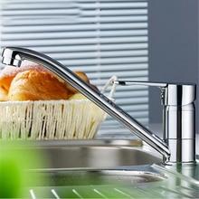 L16200-роскошный бортике хром отделка латунь Кухня Раковина кран