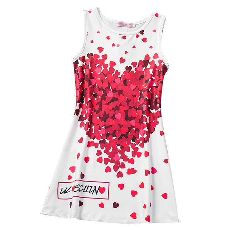 ab57b39fad Kids Girl Summer Dresses Floral-Print School Casual Dress Baby Vest Sundress  Children Sleeveless Dress