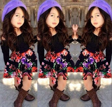 Hot Sell Kids Baby Girls Floral Dress Outfits Children Clothes 1-6Y