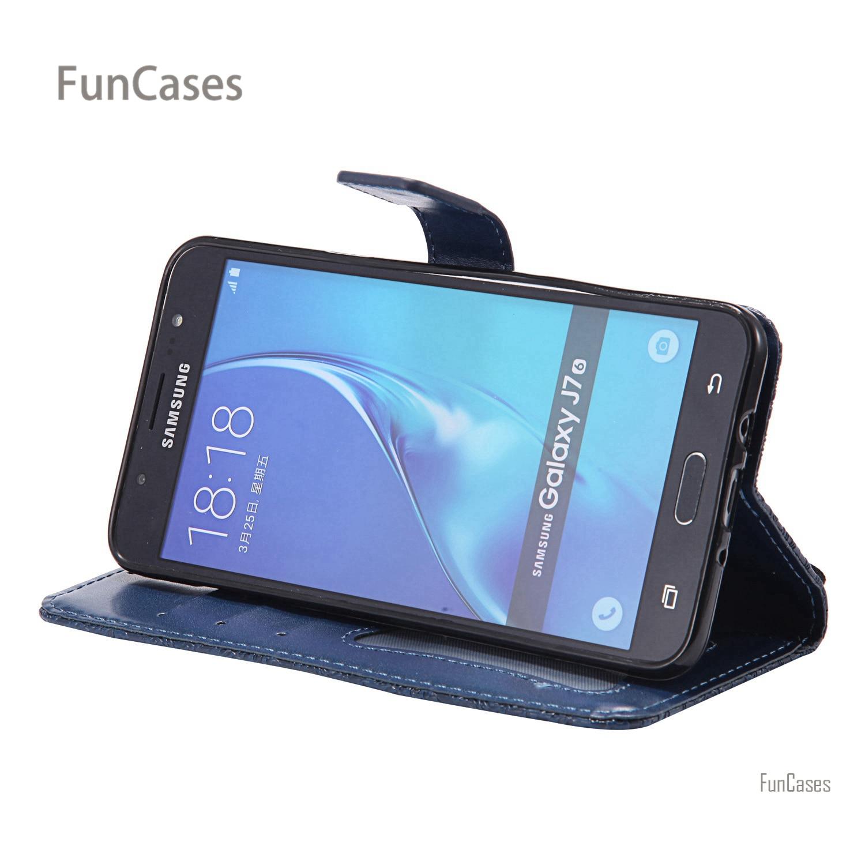 Vine Stand Flip Case sFor Carcasa Samsung J710 PU Leather Bag Protect Glossy Telefon Aksesuar Case sFor Samsung Galaxy J7 2016