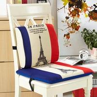 Home Decor Memory Foam Back Cushion And Seat Cushion Fashion Cartoon Chair Pad Lumbar Pillow Free