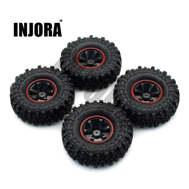 INJORA 1:10 RC Rock Crawler 1.9 Inch Lốp Xe Cao Su & Nhựa Bánh Bộ Cho Trục SCX10 Sơn Mô Hình Chuyên Dụng Tamiya CC01 D90 TF2