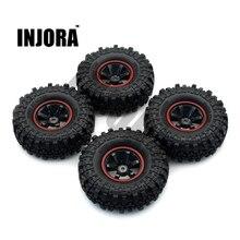 INJORA 1:10 RC Rock Crawler 1,9 дюйма, резиновые шины и пластиковые колеса, набор для осевого SCX10 Tamiya CC01 D90 TF2