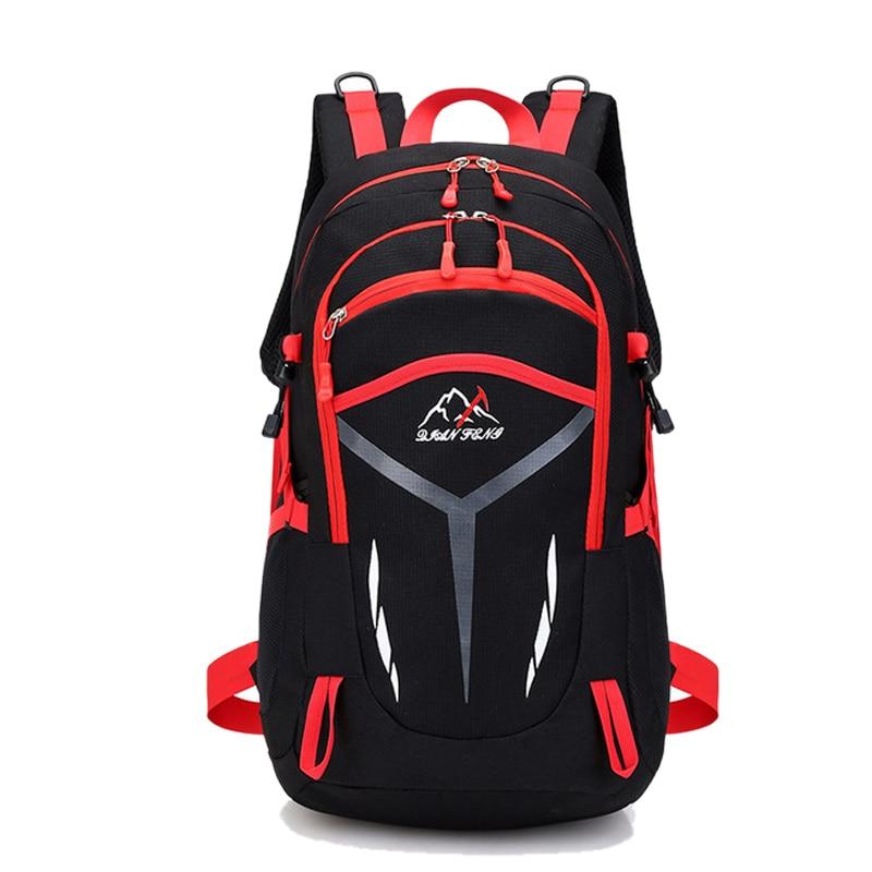 40L Multi-purpose Reflective Climbing Bags Outdoor Sports Mountain Bike Backpack Men Women Candy Color Zipper Rucksack XA662WD