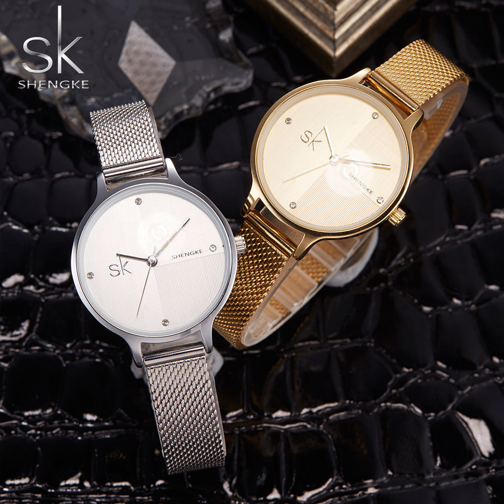 Shengke Smart Watch Women Mechanical Watches Fashion Clock Sliver Relogio Feminino Luxury Gold Montre Femme Lady