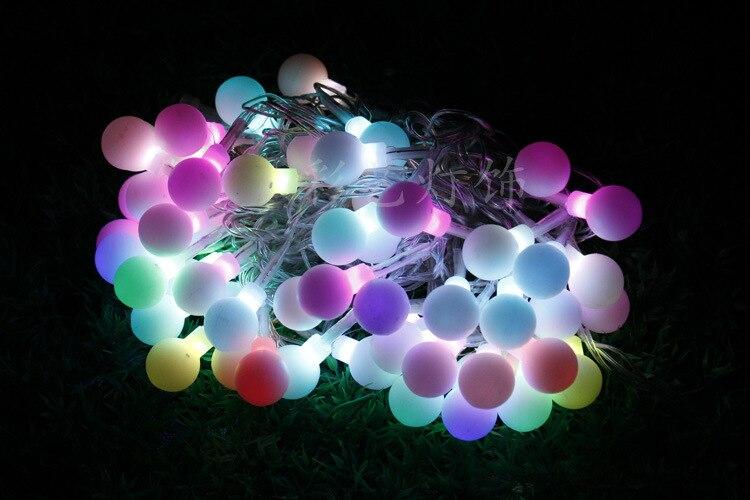 Illuminazione esterna a led stringa palla 10 m 56 leds sette colori