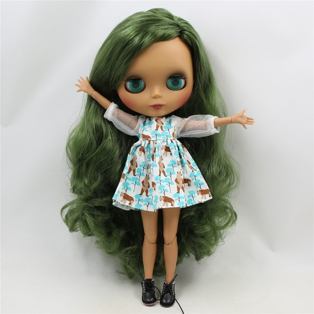 ICY Neo Blythe Doll Green Side Part Jointed Body