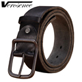 [TG] 2016 New Fashion Genuine leather stone belt men Luxury belts male gold buckle strap cow skin belt for man High quality