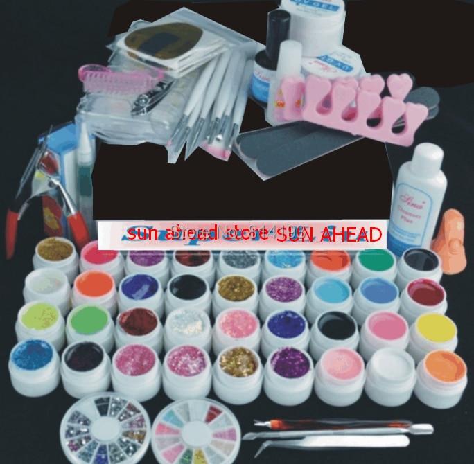 Promotion Free shipping hot sale Pro 36 Color UV Gel Nail Art Tool Kits Sets