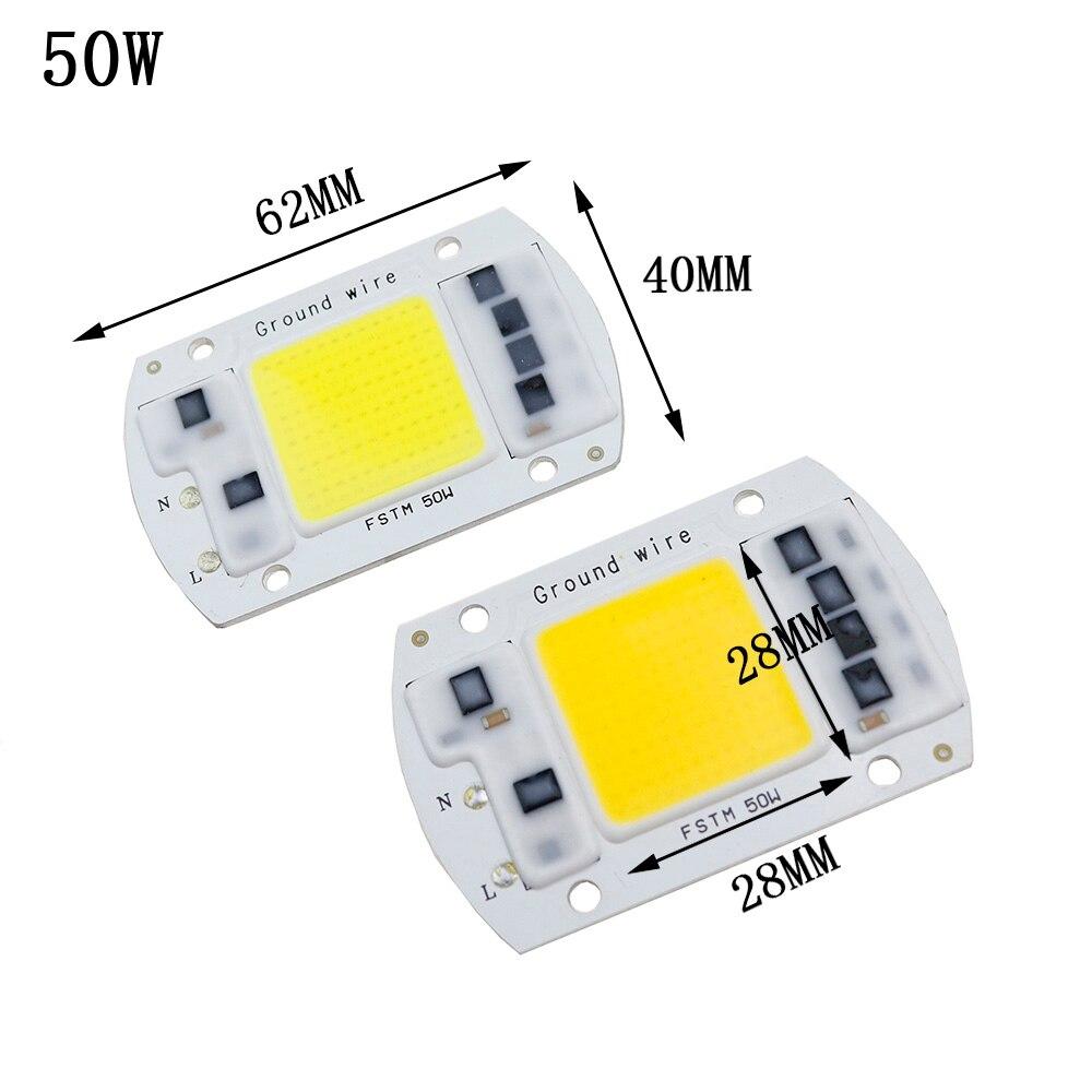 AC 220V 190-240V COB LED Chip Light 20W 30W 50W Highlighted LED COB Chip Cold White/Warrm White Lamp light source DIY Bulb DA