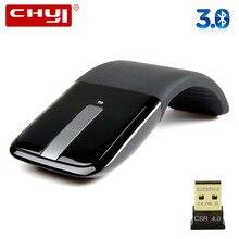 Souris pliable sans fil Bluetooth, 1200DPI, pour ordinateur portable Microsoft, ergonomique, avec Kit d'adaptateur 4.0