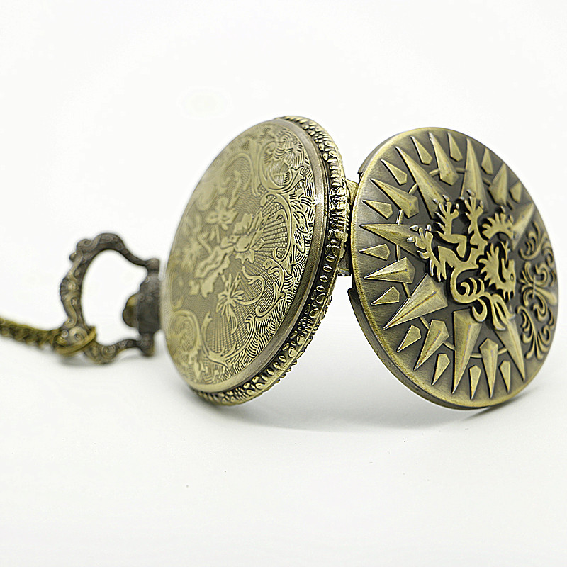 Game-of-Thrones-Hear-Me-Roar-LANNISTER-Theme-3D-Bronze-Quartz-Pocket-Watch-With-FOB-Chain (2)