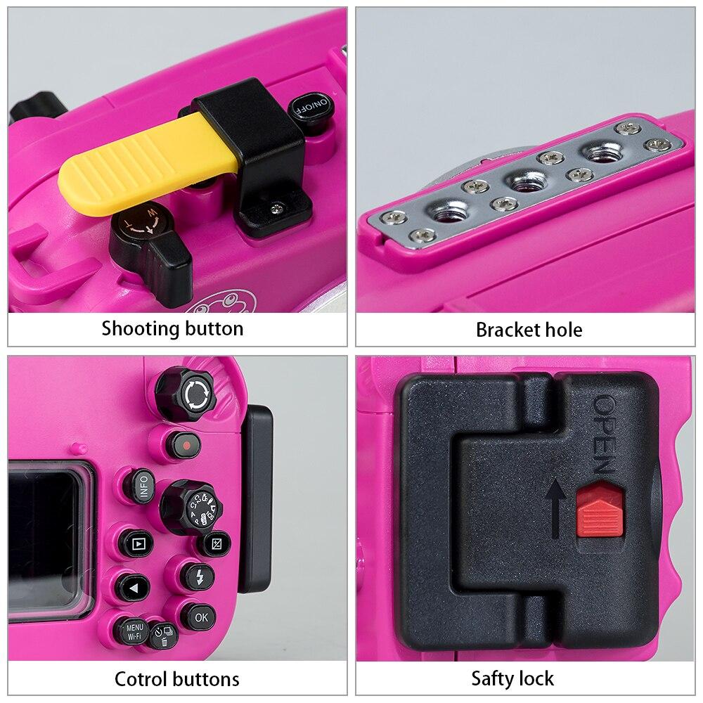 Seafrogs Voor Olympus TG 5 Case 60 m/195ft TG5 Onderwater Duiken Camera Behuizing Waterdichte Case met Dual Fiber optic poorten - 5