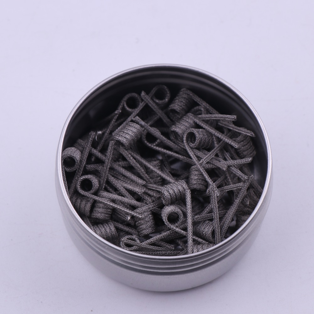 50/100 stücke NEUE XFKM NI80 Hohe Dichte Clapton Vorgefertigte Spulen Vorgefertigten Spule für Elektronische Zigarette RDA RTA Mod Heizdraht