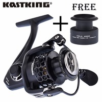 KastKing 2016 New Mela Smoother Faster Speed Spinning Reel With Extra Spool Saltwater Fishing Reel Free