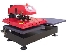 pneumatic swinger garment heat transfer machine with double protector cover