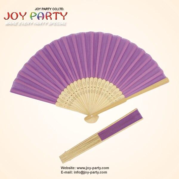 10pcs / lot 21cm 라이트 퍼플 / 릴라 / 바이올렛 컬러 실크 핸드 팬 파티 웨딩 부탁
